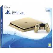 Sony PlayStation 4 Slim (PS4 Slim) 500GB Gold+Ds4